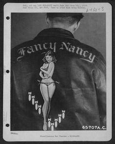 vintage bomber jacket art