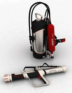 HPI 1000 Impulse Gun for Firefighters by Jan Thinius Yanko Design, Body Armor, How To Make Handbags, Fire Extinguisher, Fire Department, Business Card Design, Firefighter, Industrial Design, Futuristic