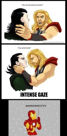 Thor and Loki..maybe posting all these Avengers pins make me a nerd but I don't really care!