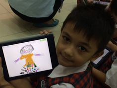 In ICT lesson, EY2 Jupiter played educational games and interactive lessons by iPad application called Tiny Tap. The students personalized their own pictures and creating sentences or a story.