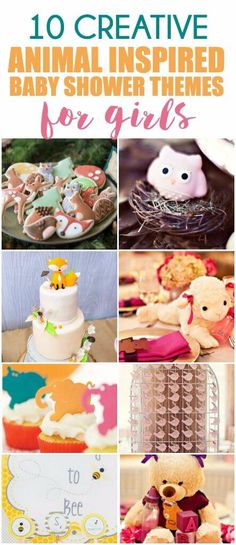 Over 50 creative baby shower themes for a baby girl including the cutest animal themed baby shower ideas! Everything from fashion inspired to Disney inspired to baby shower ideas inspired by funny sayings! And I love that there are also ideas for DIY gifts, party favor gift ideas, cupcakes, and even crafts for the different themes! I'm definitely going to try out one of the animal inspired themes soon.