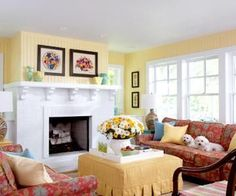 Sunny Yellow Cottage Style Living Room Home Yellow Decorate Sunny  Decorating Ideas Living Room Cottage Style