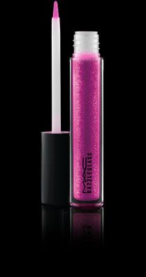 Funtabulous: instant fun on your lips.    Demure dames: no need to fear this lipgloss - it's not quite as shocking pink once it's on, but it does have full-on sparkle.