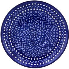 Polish Pottery Dessert Plate 8inch UNIKAT -- Clicking on the VISIT button will lead you to find similar pottery product