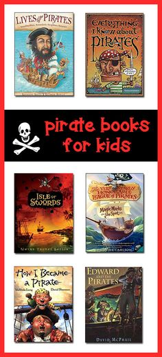 This page lists the best kids pirate books for children in K-8