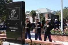 Ridgeland SC Veterans Memorial Park Dedication Day November 11, 2011 Veterans Day Marine Monument