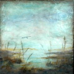 'Flying Solo', Michaelle Peters Charlwood, michaellepc.com / encaustic, oil on board, 12x12""