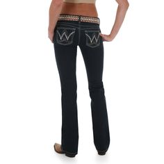 the only jeans that fit me right. wrangler baby