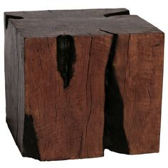 Lyche Wood Stool Set of 3 Square – organic findings