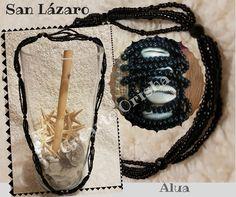 Collar Mazo y Kasha de San Lázaro Alua https://www.facebook.com/crearteorishamadrid/ #sanlazaro #madrid #santeria #afrocubano #atributosyorubas #santos #orishas #aja #españa #asojano