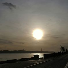 #pordosol #sunset #riotejo #tejoriver #lisboa