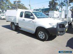 2011 Toyota Hilux KUN26R MY12 SR (4x4) White Manual 5sp M Extracab #toyota #hilux #forsale #australia