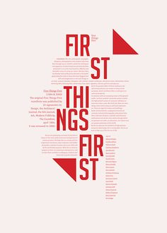first things first on Behance