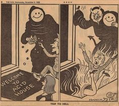Check out a hilarious anti-acid house cartoon, published in The Sun in 1988.