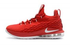 Nike LeBron 15 Low EP University Red Black White AO1755 600 Men s  Basketball Shoes James Shoes 42a5582c0