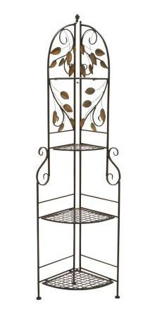 Corner Bakers Rack With Storage Endearing Woodland Imports Corner Baker's Rack  Wayfair  Favorite Places Design Decoration
