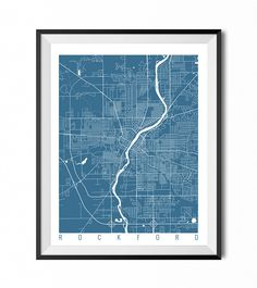 ROCKFORD Map Art Print / Illinois Poster / Rockford Wall Art Decor / Choose Size and Color by CityMapArt on Etsy https://www.etsy.com/listing/213637710/rockford-map-art-print-illinois-poster