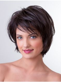layered bob hairstyles These great short layered bob with bangs images here will guide for a new appereance and amazing experience. Lets take a look these chic short haircuts Layered Bob With Bangs, Short Haircuts With Bangs, Layered Bob Short, Short Layered Haircuts, Layered Bob Hairstyles, Short Hair With Layers, Hairstyles With Bangs, Short Hair Cuts, Straight Hairstyles