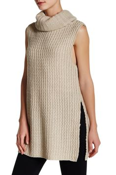 Knit Cowl Neck Tunic
