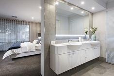 #doublevanity #doublesink #bathroom #ensuite #mirror #whitecabinets #mastersuite #masterbedroom