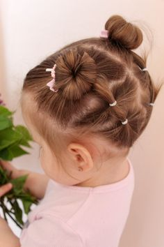 Easy Toddler Hairstyles, Easy Little Girl Hairstyles, Cute Little Girl Hairstyles, Baby Girl Hairstyles, Pretty Hairstyles, Girl Hair Dos, Hairdos, Hair Beauty, Babies