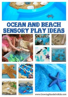 Some of the best ocean and beach themed sensory play ideas for kids from kid bloggers.
