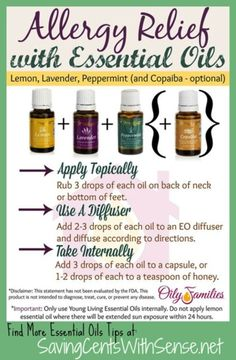 Young Living Essential Oils: Allergy Relief
