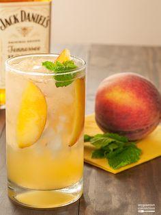 Honey-Peach Fizz from MyGourmetConnection