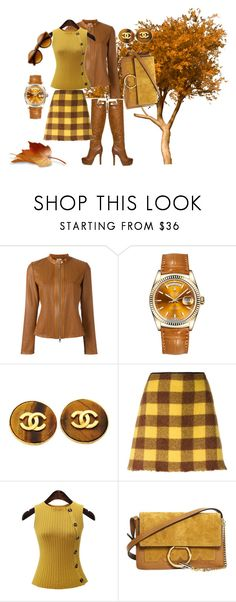 """""""fall"""" by roushanbouzo ❤ liked on Polyvore featuring DESA 1972, Rolex, Chanel, N°21 and Chloé"""