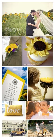 Great summer wedding theme: sunflowers. Goes well with this sunflower wedding gift packaging. http://www.bagsandbowsonline.com/shopdeluxe/initialsearch/sunflower?_requestid=10472