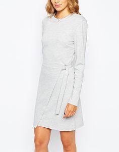 Image 3 ofVila Asymetric Hem Dress With D Ring Waist