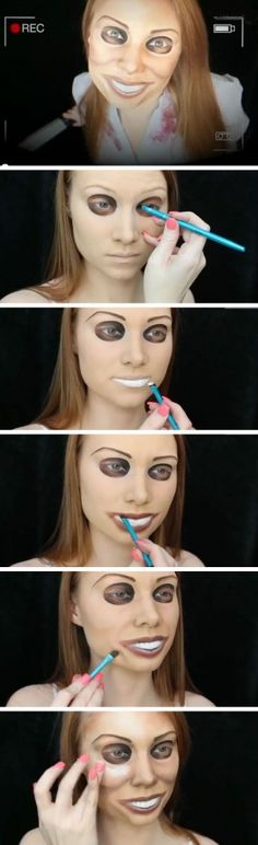 aterrador maquillaje