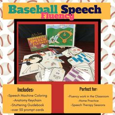 Hit a Home-Run in Speech Therapy with this adorable game pack to work on Voluntary Stuttering and Pull-Outs/Slide-Outs!