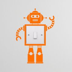 Robot Light Switch Decal Vinyl Wall Stickers by LedroDesign