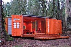 out of a shipping container!