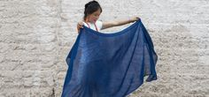 Feather Texture - Handwoven Yak Wool & Silk Scarf