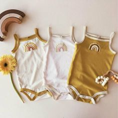 Sleeveless Bodyton Rainbow bodysuit - The most beautiful children's fashion products Cute Baby Girl Outfits, Cute Baby Clothes, Baby Girl Clothes Summer, Hipster Baby Clothes, Infant Girl Clothes, New Born Clothes, Infant Clothing, Vintage Baby Clothes, Toddler Outfits