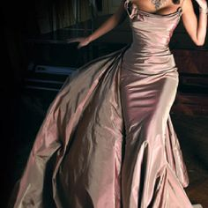 ~Pink Evening Gown~  I Would Look Fabulous In And Oh So Sexy
