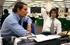 Bob Woodward & Carl Bernstein  2 reporters at the Washington Post who followed a story that lead to the oval office and the collapse of a presidency.