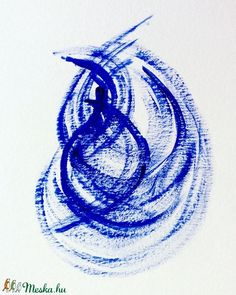 Dinamikus kékség - festmény (Krisztikmarti) - Meska.hu