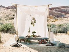 Inspired by the Moroccan desert, this Nevada inspiration shoot by Gaby J Photography and Cactus & Lace Weddings utilised brass, colourful textiles and exotic fruits - and a camel!