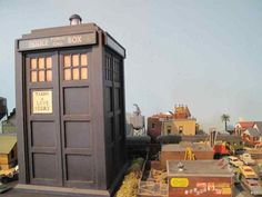 Model TARDIS on my HO scale railroad layout