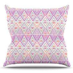 KESS InHouse Soft Petal Tribal by Pom Graphic Design Outdoor Throw Pillow