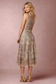 Silver Floral Eleanor Dress | BHLDN