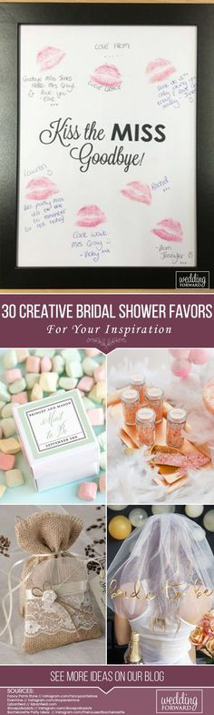 A bridal shower is an opportunity to have a rest and have fun before the most important day in the life of each bride. The bridesmaids give small presents to the bride at this day or night. Much more creative and interesting gifts are DIY ones. #BridalShowerFavors