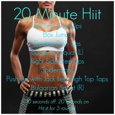 INSANE Fat Burning 20 Minute HIIT *WORKOUT