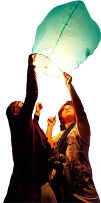 love the idea of wish lanterns