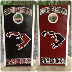 Corn hole boards I painted for game day! GO GAMECOCKS! USC