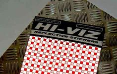 Respro® Hi-Viz Sticker Kit Reflective Scotchlite™ Printed Check A4 Sheet www.respro.com