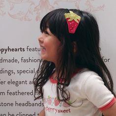 Poppyhearts custom made strawberry headband for the biggest strawberry fan!  www.poppyhearts.com